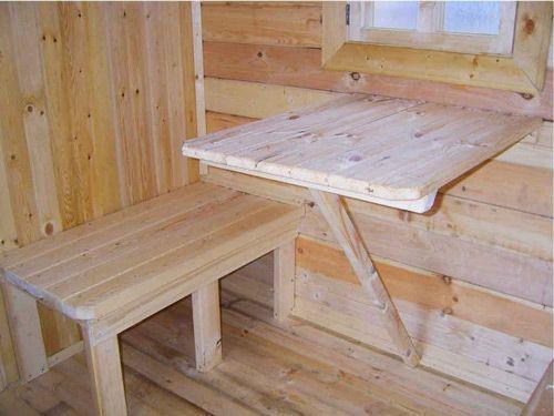 Мебель для бани может быть очень простой, но такой приятной глазу, просто и со вкусом