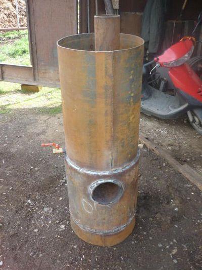 Практически готовая печь из трубы