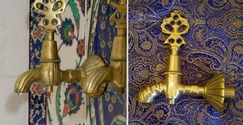 Как аксессуары турецких бань изысканного дизайна для оформления используются краны