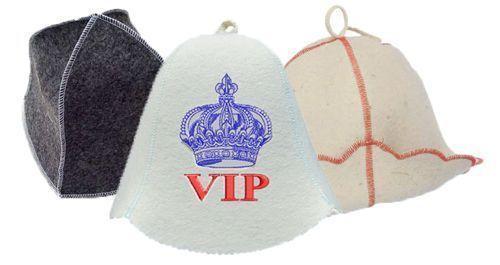 Очень широкий выбор шапочек для похода в баню