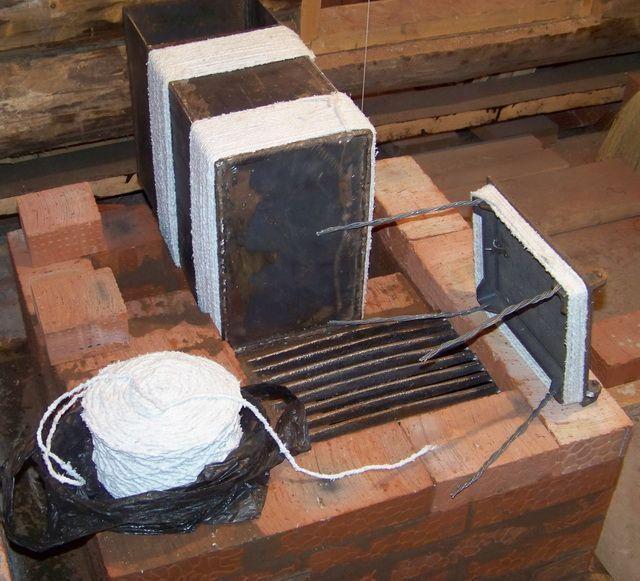Печка своими руками из кирпича фото