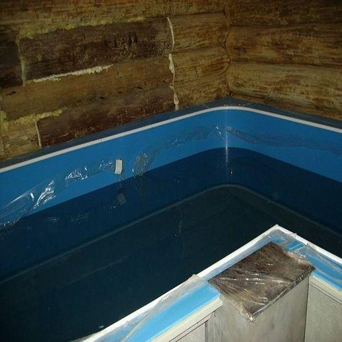Многоместная купель в бане