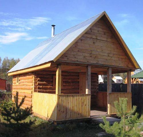 Строительство крыши бани своими руками