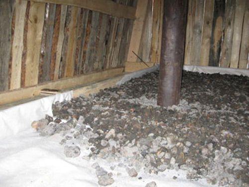 Настильный потолок в бане и утеплитель.