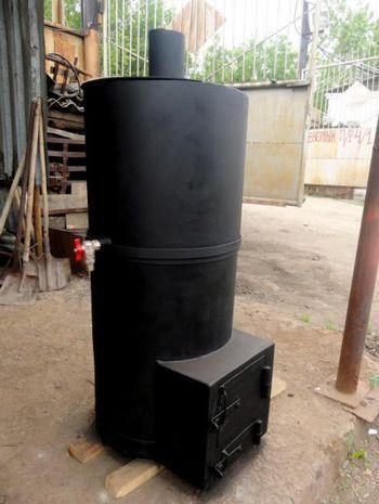Металлическую печь тоже можно сделать самостоятельно
