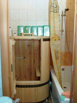 Парная кабинка в обычной малогабаритной ванной