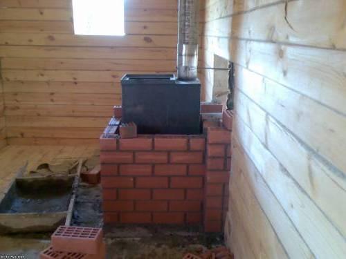 Горизонтальная отделка бани изнутри деревянной вагонкой