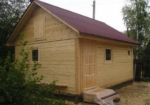 Построенная баня