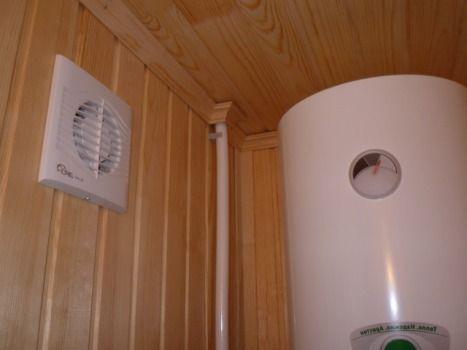вытяжное отверстие со встроенным вентилятором