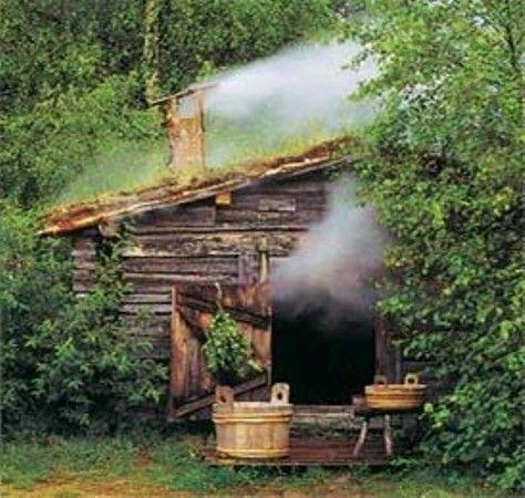 Прогрев деревенской бани «по-черному»
