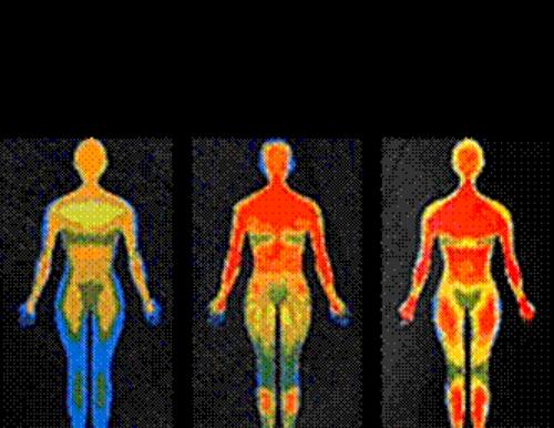 Постепенный прогрев тела человека в инфракрасной сауне