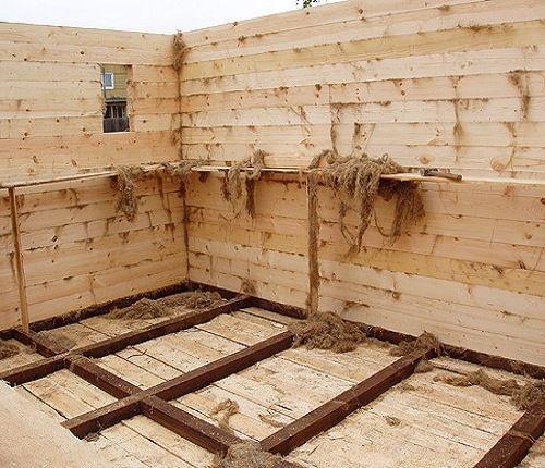 Утепление стен бани на начальных этапах