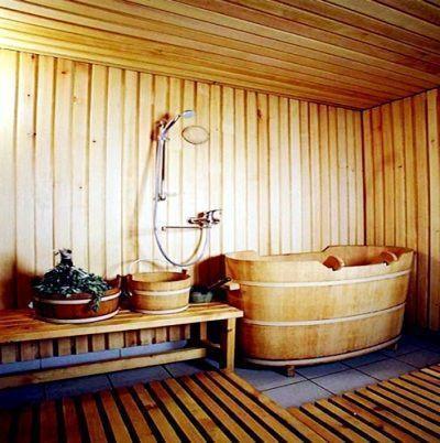 Баня с деревянной купелью