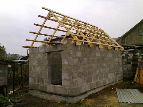 Строим баню из пеноблоков