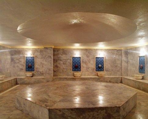 Современная турецкая баня оборудована традиционной вентиляцией