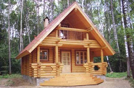Гостевой дом-баня из калиброванного бревна