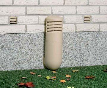Отдушины и вентиляционная труба в фундаменте бани