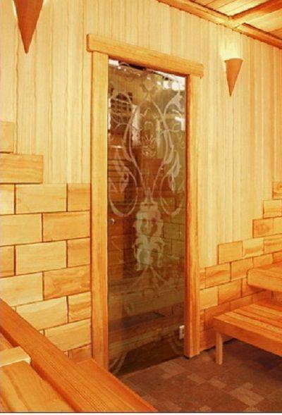 Комбинированные двери для бани