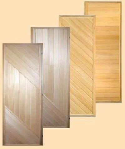 Деревянные глухие двери