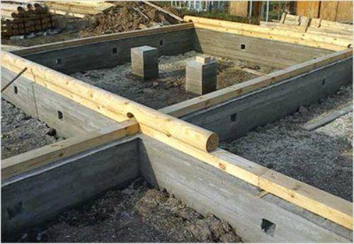 Обустройство ленточного фундамента под сруб бани из бруса