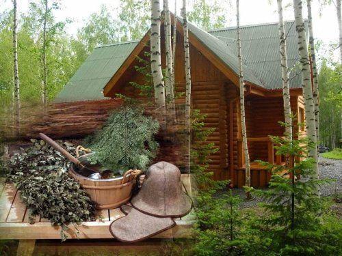Русскую баню на дровах нельзя представить без массажа веником