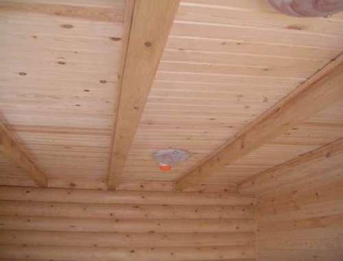 Обшивка потолка бани – процесс кропотливый и трудоемкий