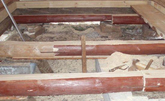Обустройство столбчатого фундамента под сруб бани из бруса