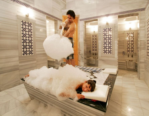 Турецкий мыльный массаж с пилингом