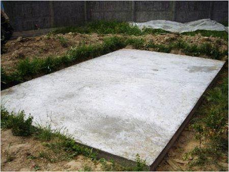 Плитный фундамент под постройку