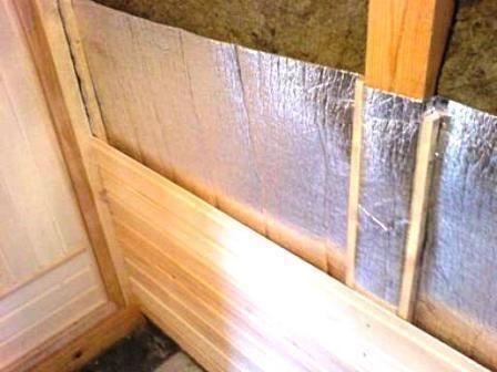Внутреннее утепление стен бани – важный этап