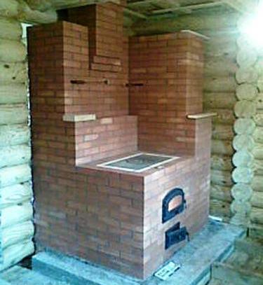 Традиционная кирпичная печь
