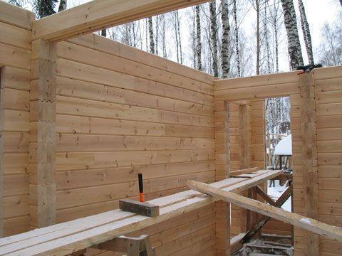 Процесс постройки бани