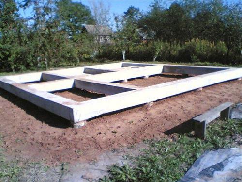Свайный фундамент для бани