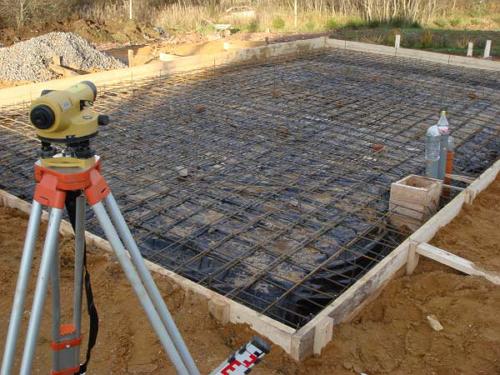 Готовая арматурная стяжка под заливку монолитного фундамента