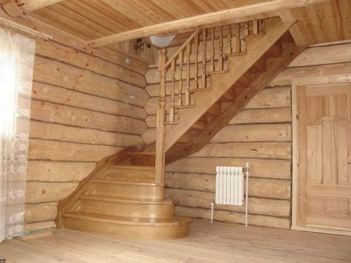 Маршевая лестница – это неплохой вариант в бани