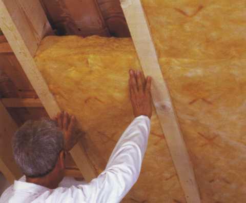 Утепление крыши бани со стороны чердака