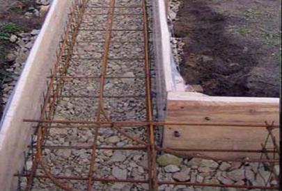 Начало строительства ленточного фундамента