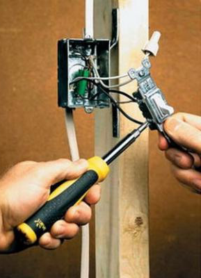 Монтаж электропроводки в сауне