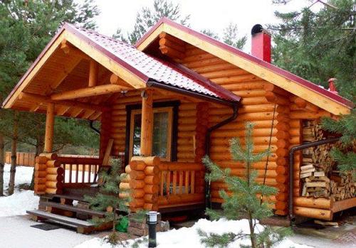 Русская баня сделанная из брёвен