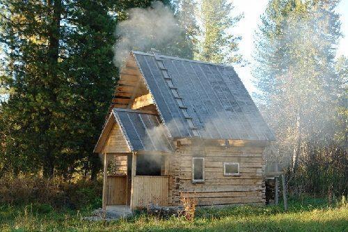 Русская баня на природе - красота