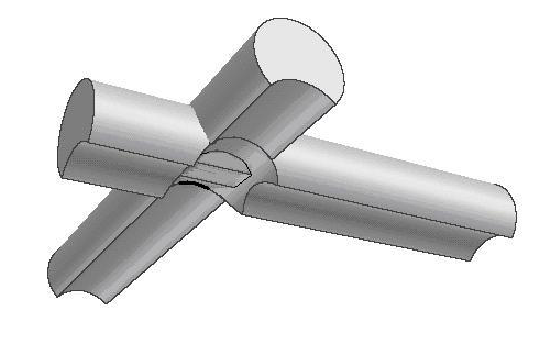 Соединение и врубка брёвен в «охлоп»