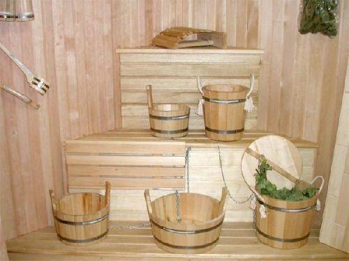 Банные аксессуары из дерева