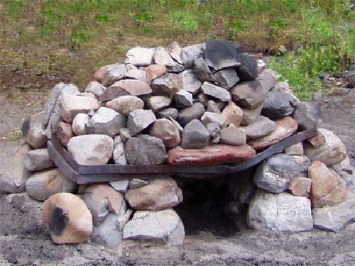 Каменка для походной бани