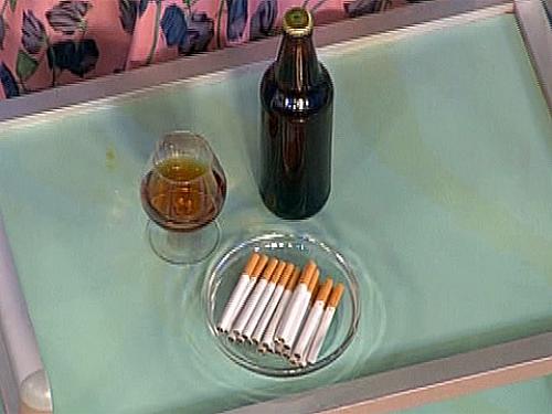 Вредные привычки: курение, алкоголь