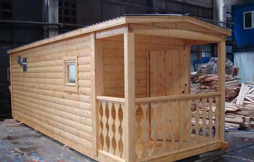 Баня отделанная блок-хаусом