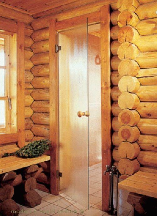 Банная дверь из жаропрочного стекла