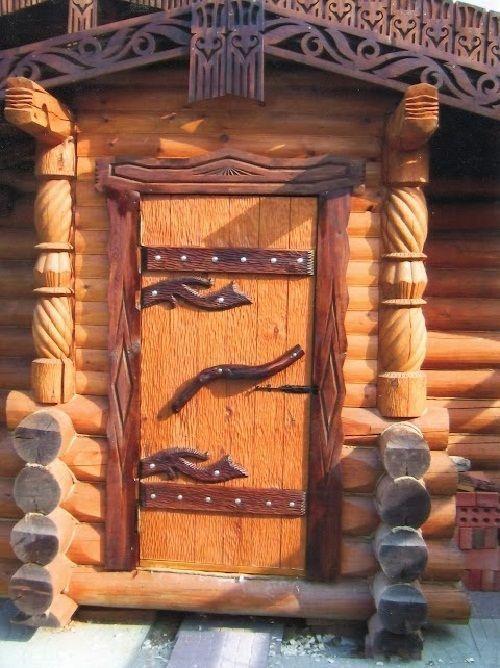 Входная дверь «под сказку»