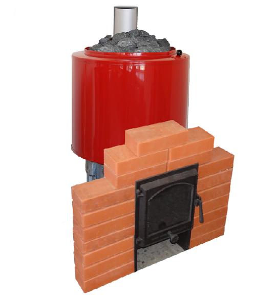 Бак для воды встроенный в печь