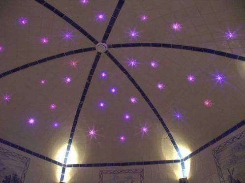 Освещение хамам - звездное небо в турецкой бане
