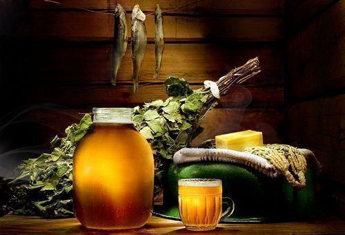 Пиво в бане можно применять не только внутрь, но и наружно